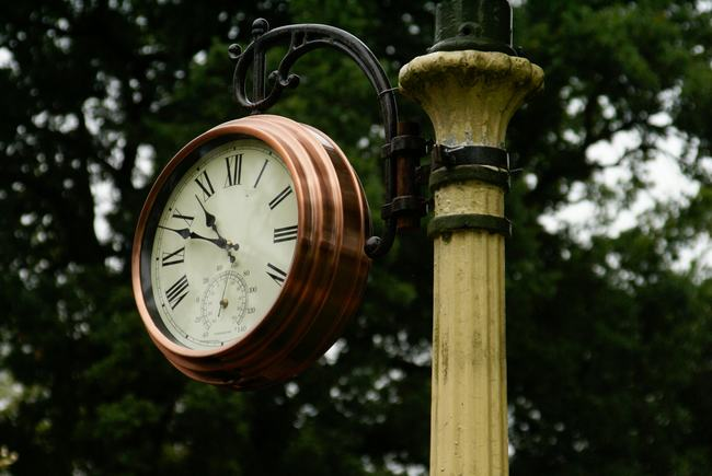 Clock for the railway at Whipsnade Zoo
