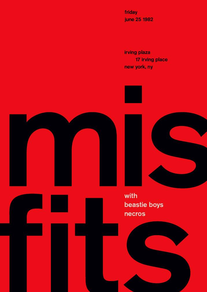 Modernismo suizo - misfits
